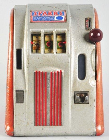 614: Sparks 5¢ Cigarette Reel Trade Stimulator.