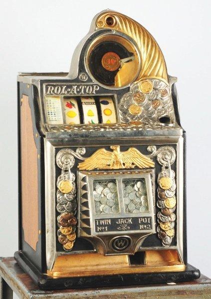 619: Watling 10¢ Rol-A-Top Coin-Op Machine.