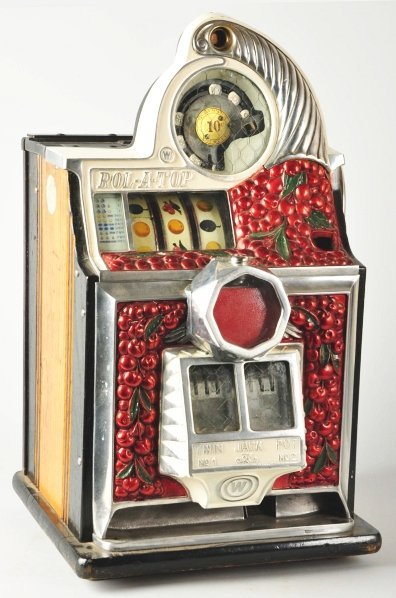 621: Rol-A-Top Cherry Front 10¢ Coin-Op Machine.
