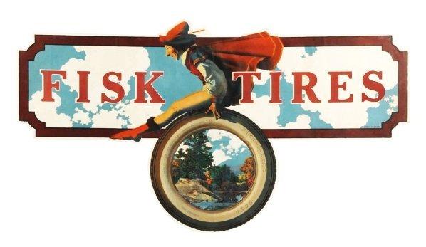 646: Large 1920 Fisk Tires Paper Poster.