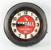 670: Kendall Oil Spinner Neon Clock.