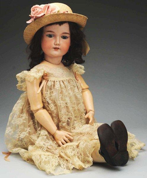 6: Large German Bisque Child Doll.