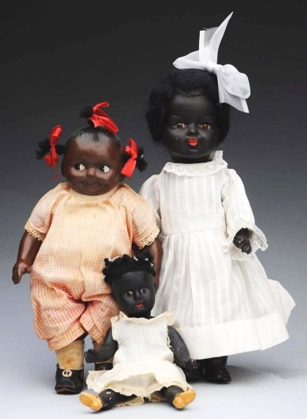 13: Lot of 3: Black American Dolls.