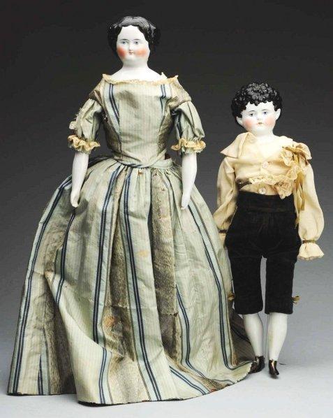 14: Lot of 2: German China Dolls.