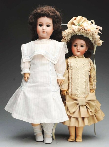 15: Lot of 2: Bisque Dolls.