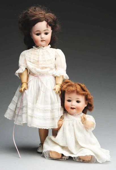 16: Lot of 2: Bisque Dolls.