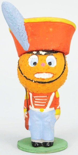 904: Halloween Pumpkin Head Soldier Candy Container.