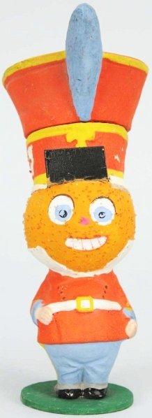 905: Halloween Pumpkin Head Soldier Candy Container.