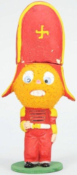 908: Halloween Pumpkin Head Soldier Candy Container.