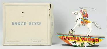 1507: Tin Marx Lone Ranger Range Rider Wind-Up Toy.