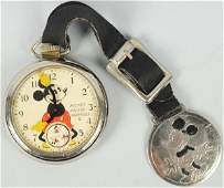 1576 Walt Disney Mickey Mouse Character Pocket Watch