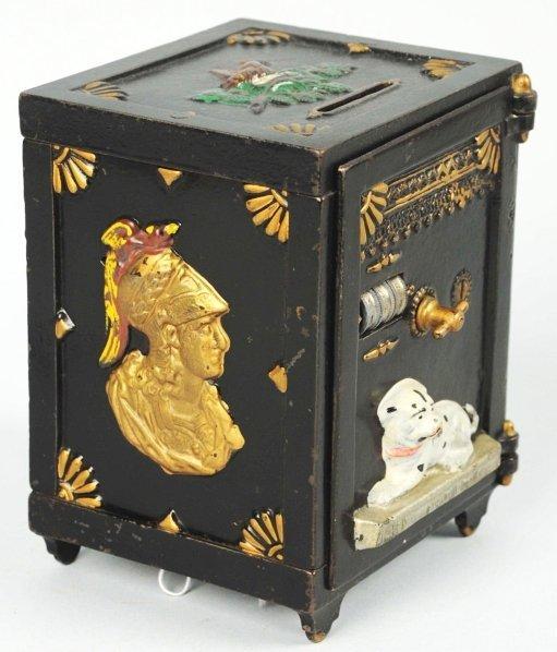 1901: Cast Iron Watch Dog Safe Mechanical Bank.