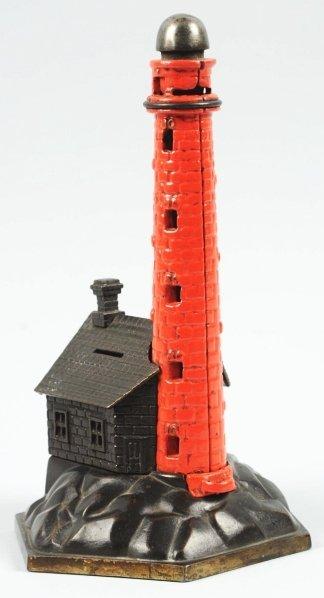 1916: Cast Iron Lighthouse Mechanical Bank.