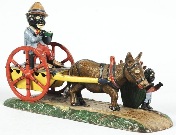 1922: Cast Iron Bad Accident Mechanical Bank.