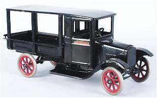 2296: Pressed Steel Buddy L Huckster Wagon Toy.