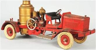 2317 Pressed Steel Kingsbury Fire Pumper Truck Toy