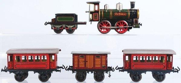2499: Tinplate Bing 1-Gauge Victoria Train Set.