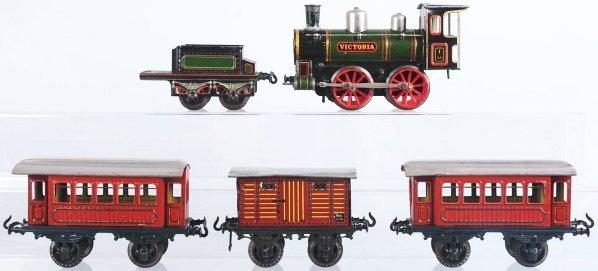 2499: Tinplate Bing 1-Gauge Victoria Train Set. - 2