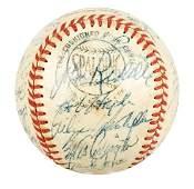 2662: 1957 Milwaukee Braves Champion Signed Team Ball.