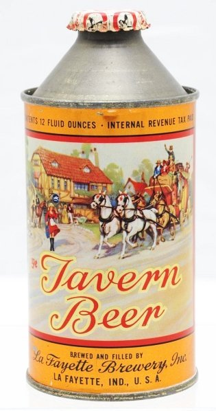 1: Tavern Beer HP Cone Top Beer Can. *