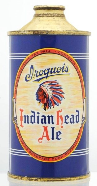 8: Iroquois Indian Head Ale LP Cone Top Beer Can.*