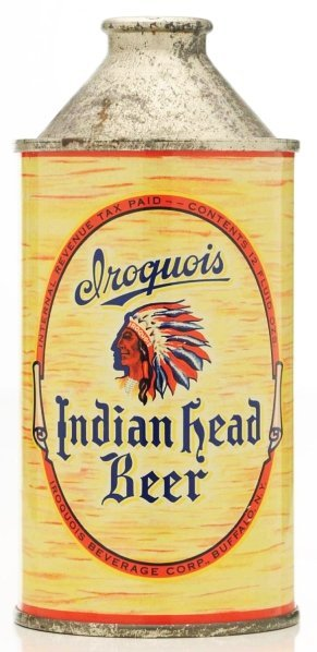 15: Iroquois Indian Head Beer HP Cone Top Beer Can.