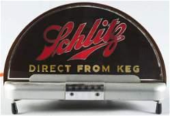 172: Schlitz Beer Cab Light-Up Reverse Glass Sign.