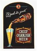 508 Chief Oshkosh Beer Reverse Glass Sign