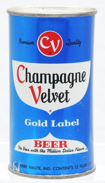 806: Champagne Velvet Dark Blue Set Beer Can.