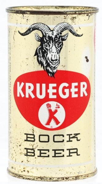 809: Krueger Bock Beer Flat Top Beer Can.