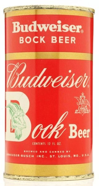 812: Budweiser Bock Flat Top Beer Can.