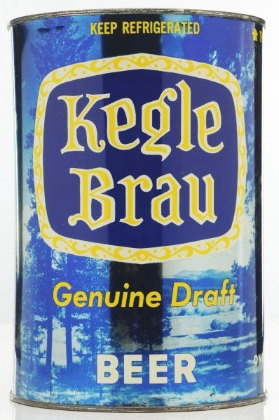 814: Kegle Brau Draft Gallon Beer Can.