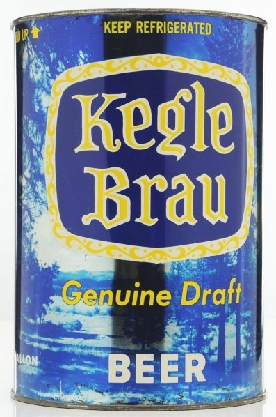 814: Kegle Brau Draft Gallon Beer Can. - 3