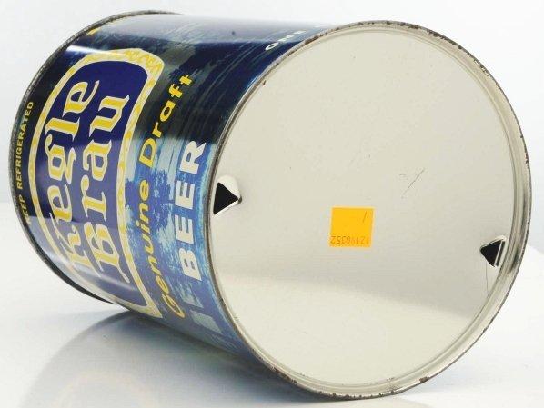 814: Kegle Brau Draft Gallon Beer Can. - 6