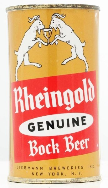 816: Rheingold Genuine Bock Beer Flat Top Beer Can.*