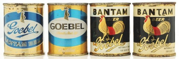 819: Goebel 8-Ounce Flat Top Beer Cans.