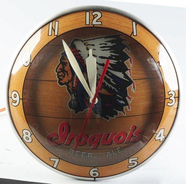 1148: Iroquois Beer Reverse Glass Light-Up Bubble Clock