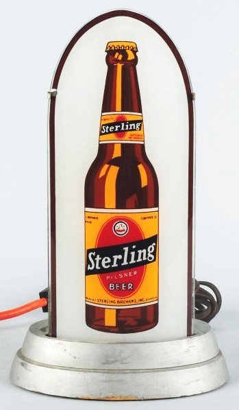 1156: Sterling Beer Glass Light-Up Bullet Sign.