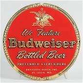 1636: Budweiser Bottled Beer Reverse Glass Sign.