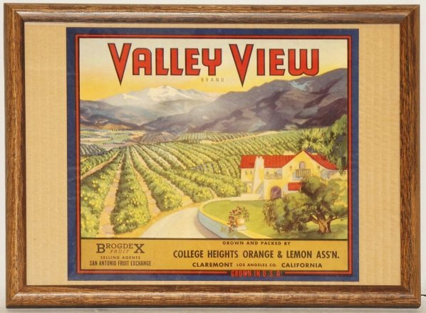 5: Valley View Fruit Crate Label.