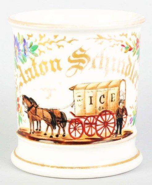 8: Horse-Drawn Ice Wagon Shaving Mug.