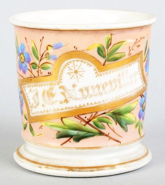 11: Floral Design Shaving Mug.