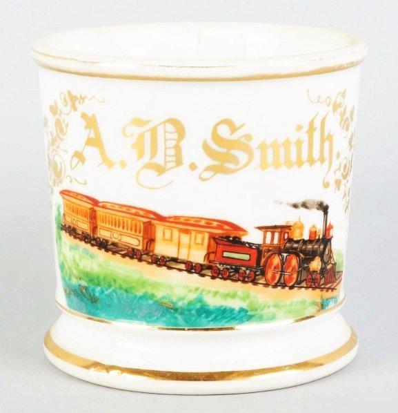 12: Locomotive Shaving Mug.