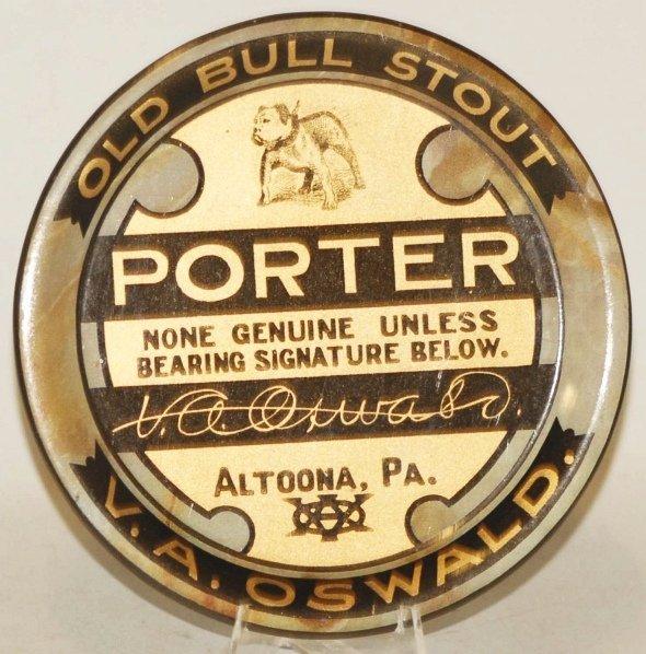 19: Altoona, Pennsylvania Old Bull Stout Tip Tray.