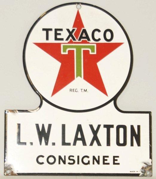 21: Porcelain Texaco Keyhole Sign.