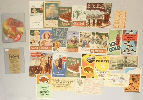 23: Lot of over 25: Small Coca-Cola Cards & Pamphlets
