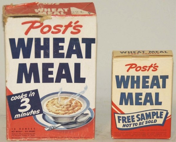 314  lot of 2  vintage hopalong cassidy cereal boxes