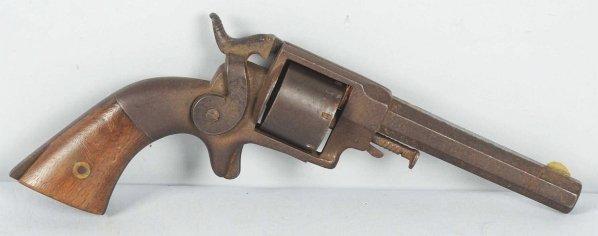 242: Ethal Allen Side Hammer Belt .34 Revolver.