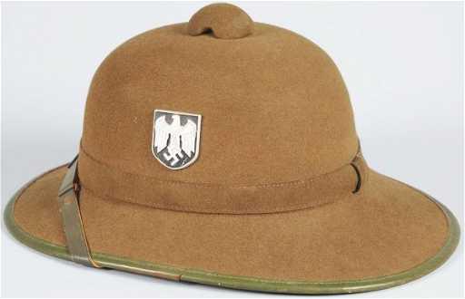 bdd1a57af252e 358  German Nazi Afrika Korps Army Pith Helmet.