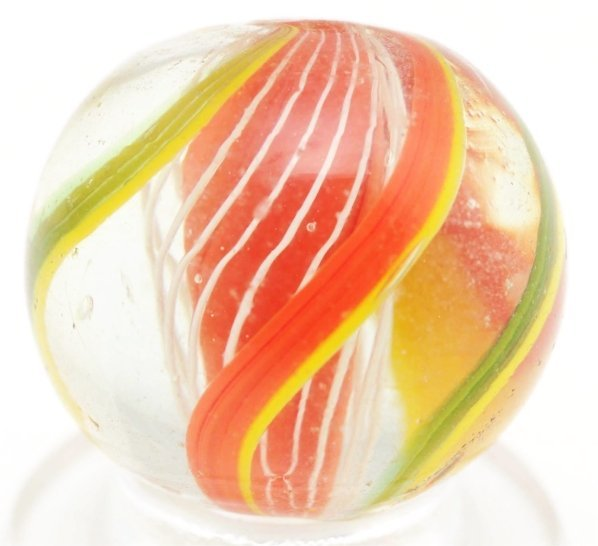 1: Bright Orange 3-Stage Solid Core Marble.